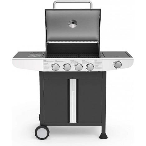 @Barbecue Gaz 4 Brûleurs LIVOO avec une Zone de Cuisson Latérale (DOC247)