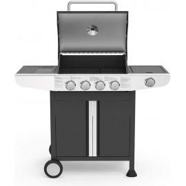 Barbecue Gaz 4 Brûleurs LIVOO avec une Zone de Cuisson Latérale (DOC247)
