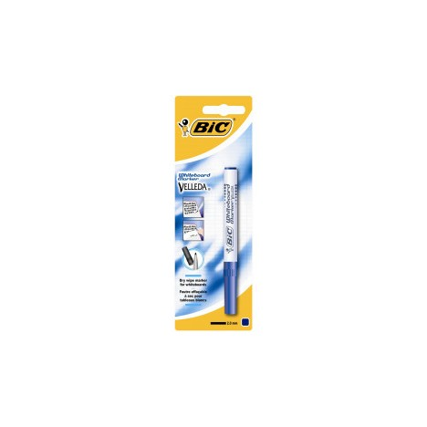 Marqueur BIC effaçable Velleda 1741 - Pointe Medium - Bleu (3086126741062)