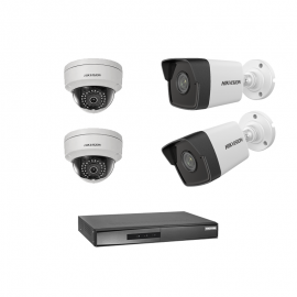 Pack Vidéo Surveillance Hikvision IP MINI NVR + 2 Caméra Interne 2MP + 2 Camera Externe 2MP ()