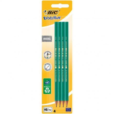Pack de 4 Crayons à Papier BIC Evolution HB - (8902764)