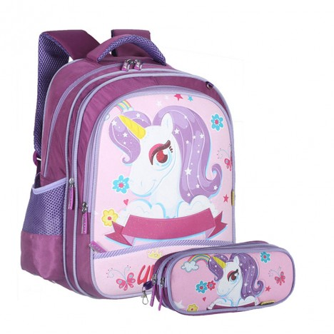 Pack Unicorn Sac à Dos + Trousse (17013-17-PU)