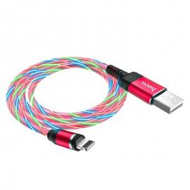 Câble HOCO U90 Magnétique avec LED Iphone - Rouge (U90-IRD)