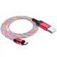 Câbles Hoco U90 Magnétique avec LED Micro - Rouge (U90-MRD)