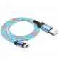 Câbles Hoco U90 Magnétique avec LED pour Iphone - Bleu (U90-IBL)