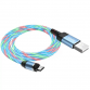 Câbles Hoco U90 Magnétique avec LED Micro - Bleu (U90-MBL)