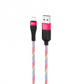 Câble Iphone Hoco U85 Silicone 3A 1m LED (U85-IBL)