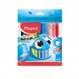 Feutre 12 couleurs MAPED océan - (réf :845720)