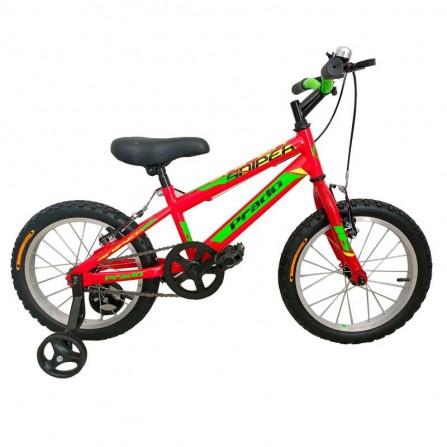 "Bicyclette PRADO SNIPER 16"" Pour Garçon - Rouge&Vert (6016 PG)"