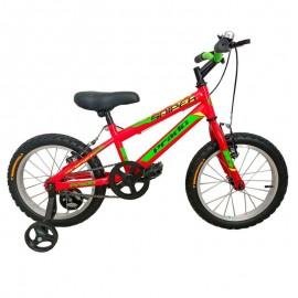 """Bicyclette PRADO SNIPER 16"""" Rouge&Vert (6016 PG)"""