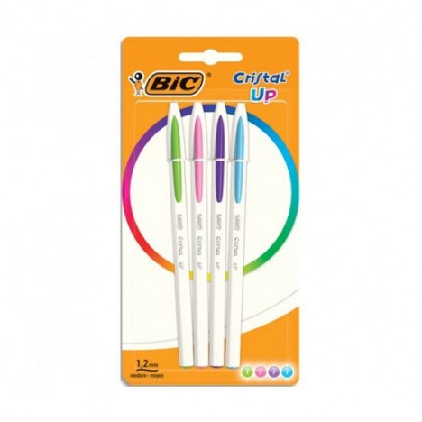 4 Stylos BIC Cristal Up Asso (949870)(94640)
