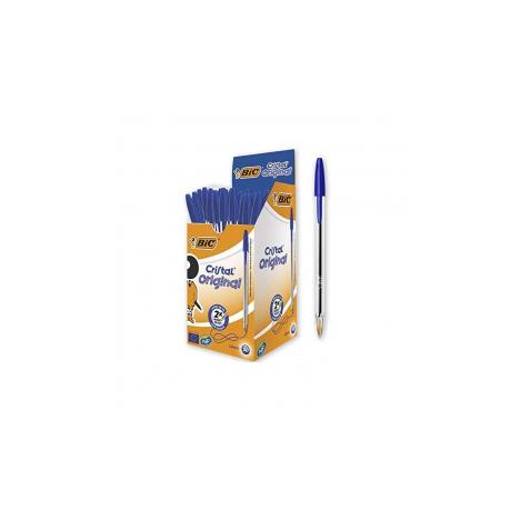 Boite de 50 Stylos à Bille Cristal Original Medium BIC - Bleu (070330129627)