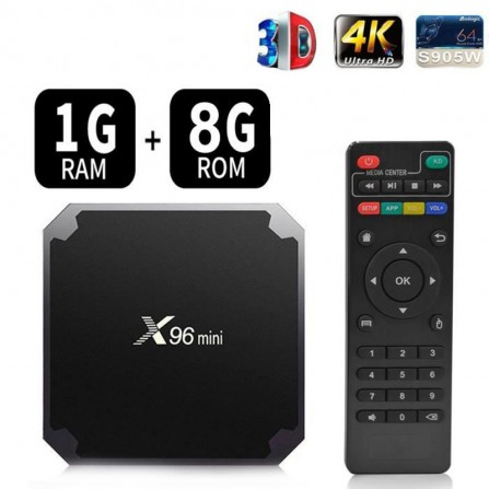 Box TV Android X96 Mini - 4K - 1Go RAM - 8Go ROM (X96-Mini)