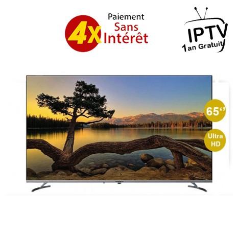 """Téléviseur TELEFUNKEN Q20A 65"""" 4K - Smart TV - Android - Wifi  (TV65Q20A)+ ABON IPTV 1AN"""