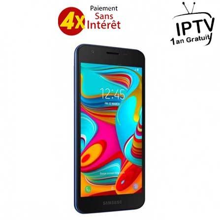 Samsung Galaxy A2 Core - 4G / Double SIM - Bleu (SM-A260-Bleu)+ ABON IPTV 1AN