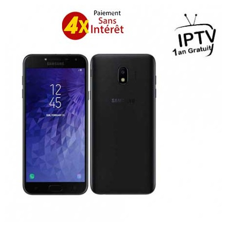 Samsung Galaxy J4 2018 / 4G / Double SIM / Noir + Garantie 1 an + 3 Mois IPTV