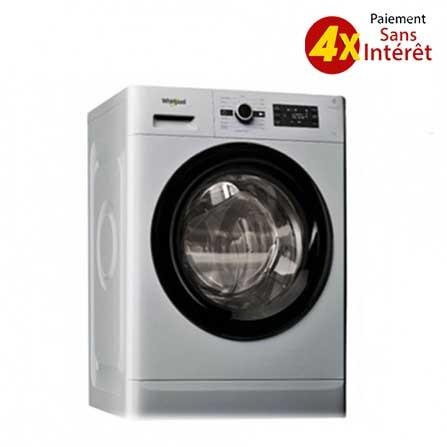 Machine à laver Frontale WHIRLPOOL  8 kg Silver (FWG81284SBS NA)
