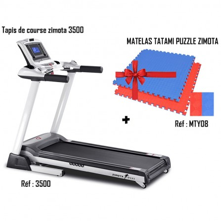 Pack Tapis de Course ZIMOTA 3500 + Matelas Tatami Puzzle 100 X 100 X 2 CM MTY08 (01013500)